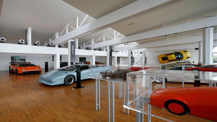 в музее Lamborghini