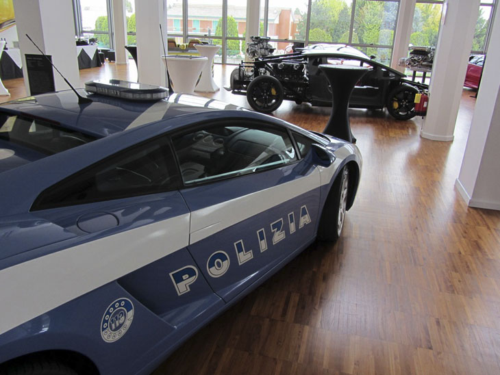фото в музее Lamborghini