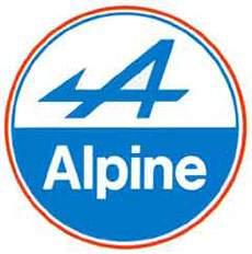 значок автомобиля Alpine (Франция 1952-1995)